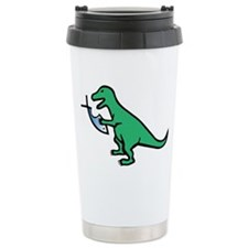 Atheism and T-Rex Travel Coffee Mug