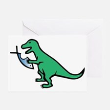 Atheism and T-Rex Greeting Card