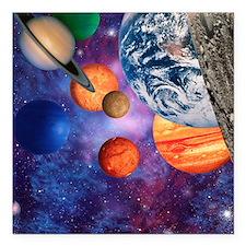 "Solar system Square Car Magnet 3"" x 3"""