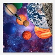 "Solar system Square Car Magnet 3"" x 3"""