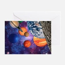 Solar system Greeting Card
