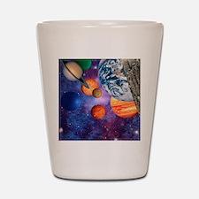 Solar system Shot Glass