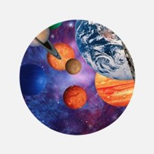 "Solar system 3.5"" Button"