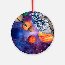 Solar system Round Ornament