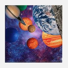 Solar system Tile Coaster