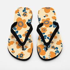 MariFlower_Yellow1_Large Flip Flops