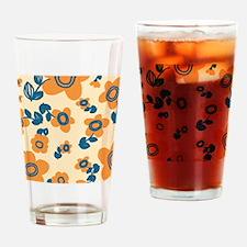 MariFlower_Yellow1_Large Drinking Glass