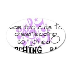 marching band cheerleading 35x21 Oval Wall Decal