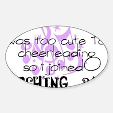 marching band cheerleading Sticker (Oval)