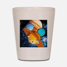 Solar system planets Shot Glass
