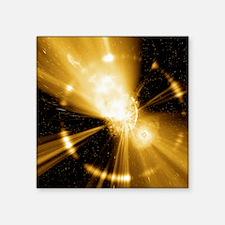 "Supernova explosion, comput Square Sticker 3"" x 3"""