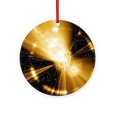 Supernova explosion, computer artwo Round Ornament