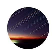 """Star trails over Queen Charlotte city, 3.5"""" Button"""