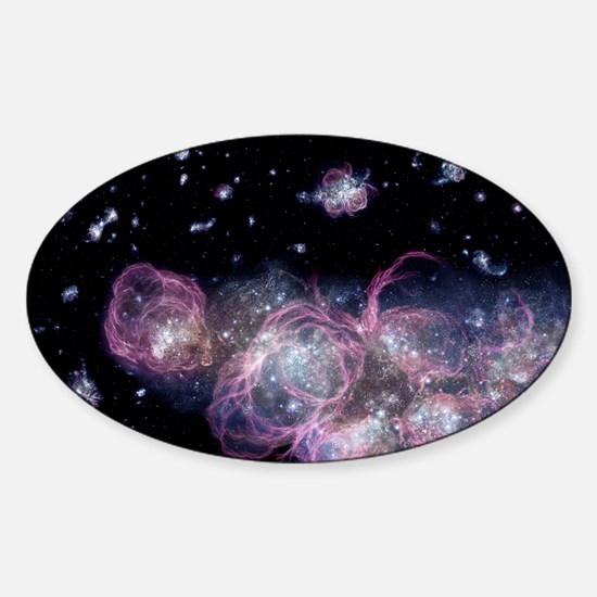 Star birth in the early universe Sticker (Oval)