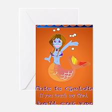 Goldie the Mermaid iPad version Greeting Card