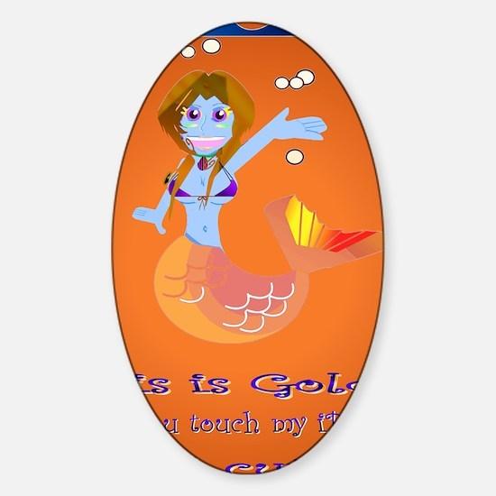 Goldie the Mermaid iPad version Sticker (Oval)