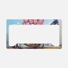 Framed Print: Leveson Inquiry License Plate Holder
