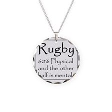 Rugby: 60% Physical Necklace Circle Charm