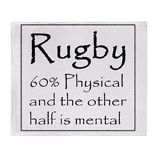 Rugby: 60% Physical Throw Blanket