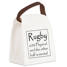 Rugby: 60% Physical Canvas Lunch Bag