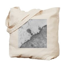 TEM of T4 bacteriophage infecting E. coli Tote Bag
