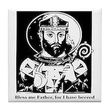 St. Arnulf the patron saint of beer Tile Coaster