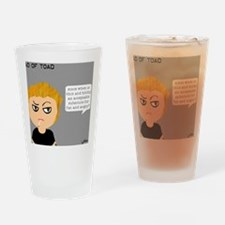 fat and angry Drinking Glass