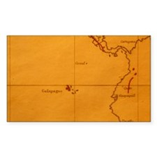 The Galapagos Islands seen on  Decal