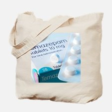 Temazepam sleeping tablet and packaging Tote Bag