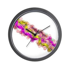 Synthetic peptide fibre, molecular mode Wall Clock