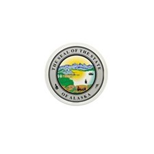 Alaska State seal Mini Button