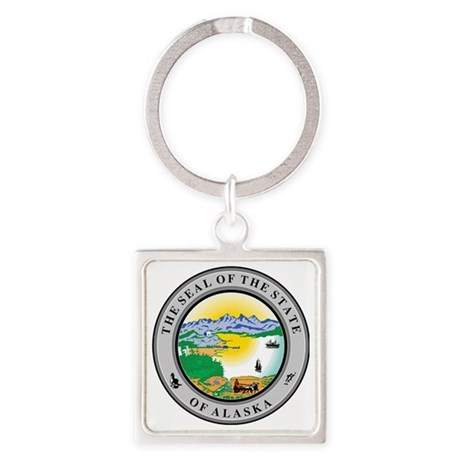 Alaska State seal Square Keychain
