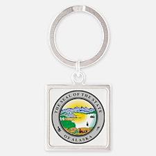 Alaska State seal Square Keychain