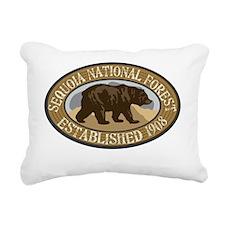Sequoia Brown Bear Badge Rectangular Canvas Pillow