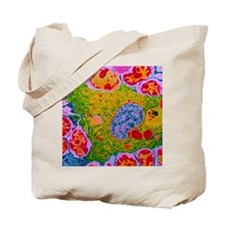 TEM of human macrophage Tote Bag