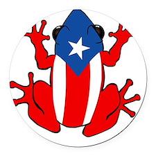 Puerto Rico - PR - Coqui Round Car Magnet