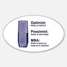 MBA Half Full Oval Decal