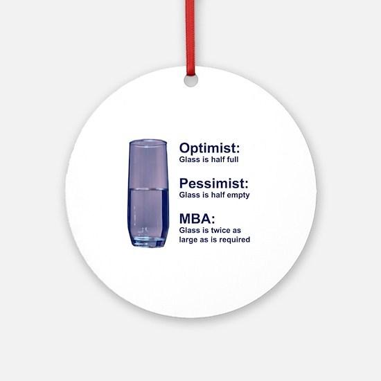 MBA Half Full Ornament (Round)