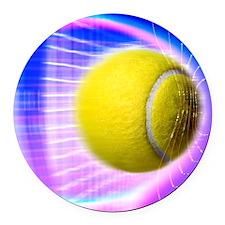Tennis ball Round Car Magnet
