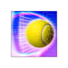 "Tennis ball Square Sticker 3"" x 3"""