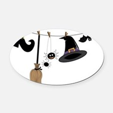 Witch Clothing Oval Car Magnet