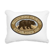 Breckenridge Brown Bear  Rectangular Canvas Pillow