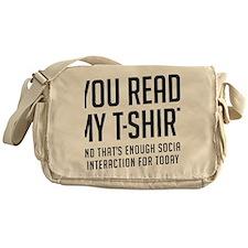 Social interaction Messenger Bag