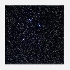 The constellation of Corvus Tile Coaster