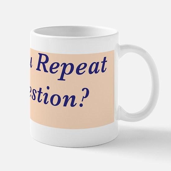 Repeat the Question :FenderFlash Mug