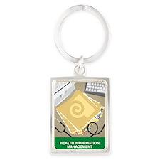 Tile Coaster Portrait Keychain