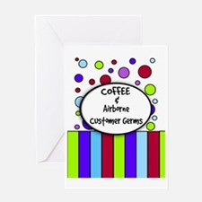 coffee and airborne customer germs Greeting Card