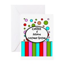 coffee airborne customer sputum Greeting Card