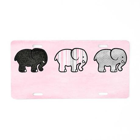 Elephants on Parade Wall Ho Aluminum License Plate
