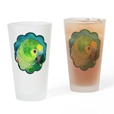 Blue-Fronted Amazon Drinking Glass
